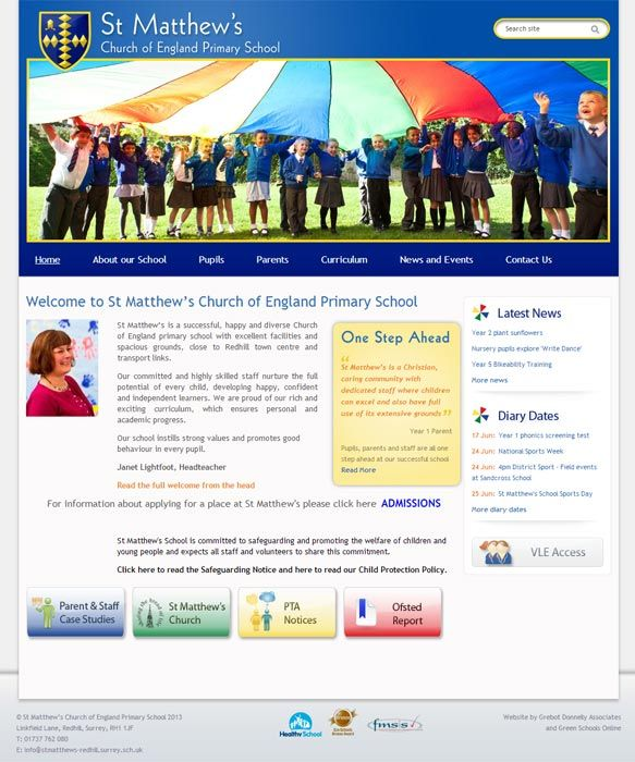 Enlarge St Matthew's (Redhill) website design