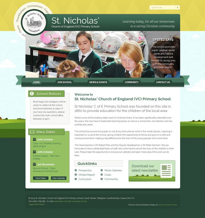 Enlarge St. Nicholas' Church of England (VC) Primary School website design