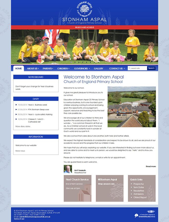 Enlarge Stonham Aspal C of E VA Primary School website design