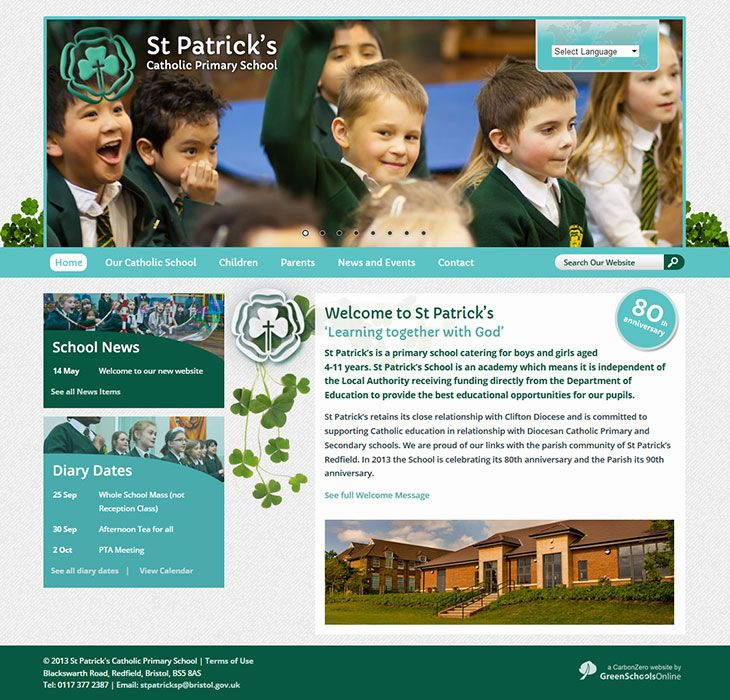 Enlarge St Patrick's Catholic Primary School website design