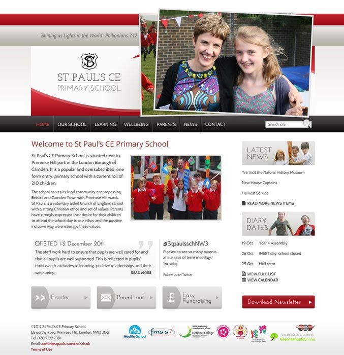 Enlarge St Paul's (Camden) website design