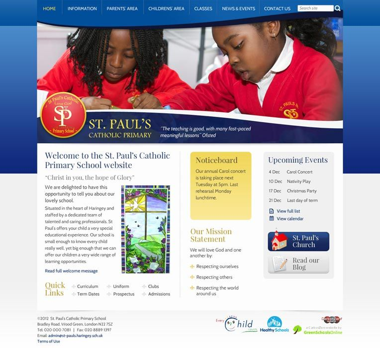 Enlarge St Paul's (Wood Green) website design