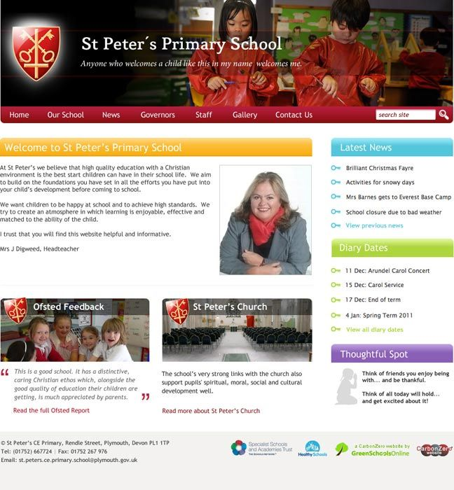 Enlarge St Peter's (Plymouth) website design