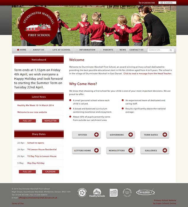 Enlarge Sturminster Marshall First School website design