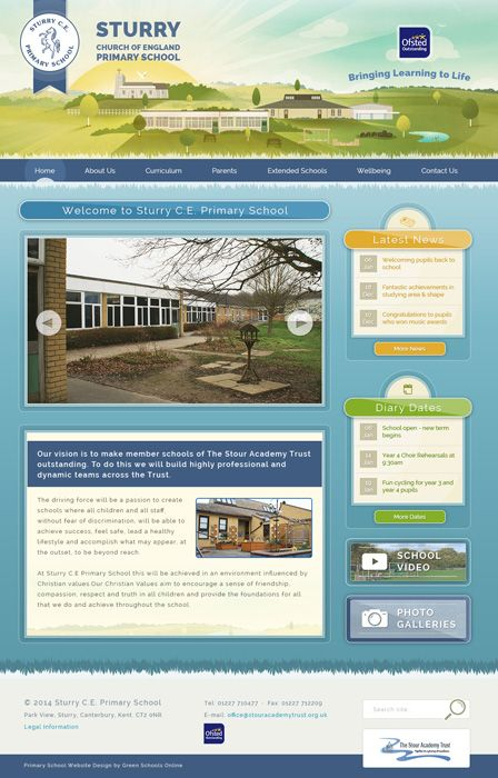 Enlarge Sturry Church of England Primary School website design