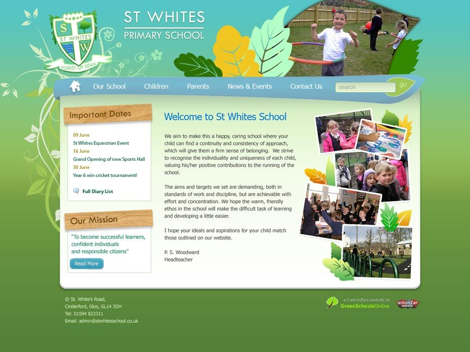 Enlarge St White's Primary School website design