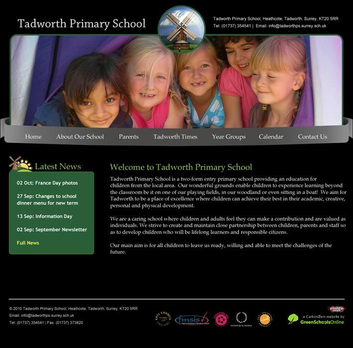 Enlarge Tadworth Primary School website design