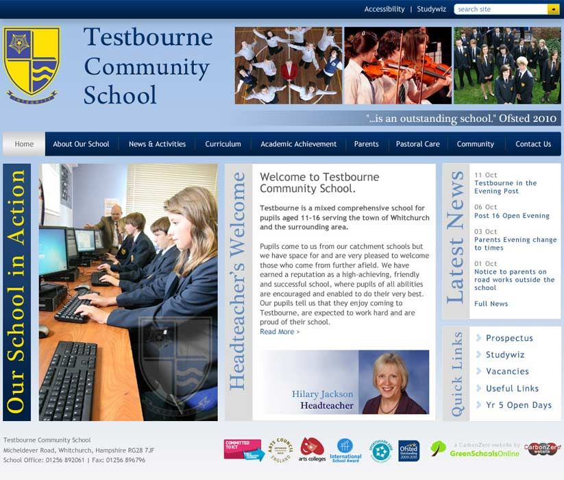 Enlarge Testbourne website design