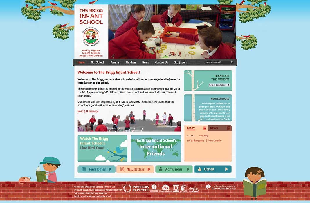 Enlarge The Brigg Infant School website design