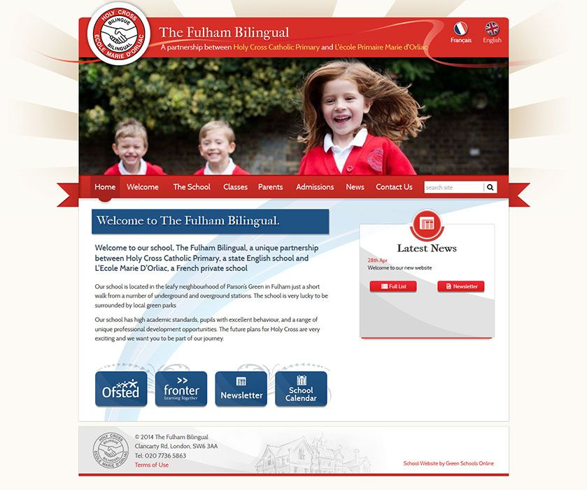 Enlarge The Fulham Bilingual English website design