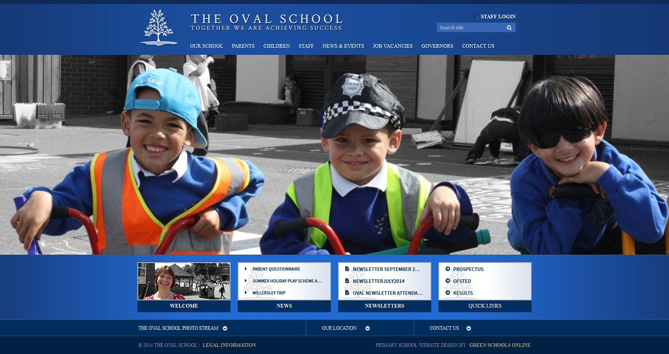 Enlarge Oval Primary and Nursery School website design
