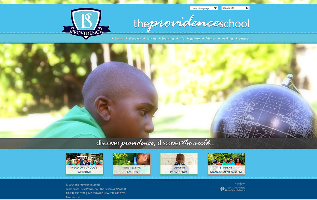 Enlarge The Providence School website design