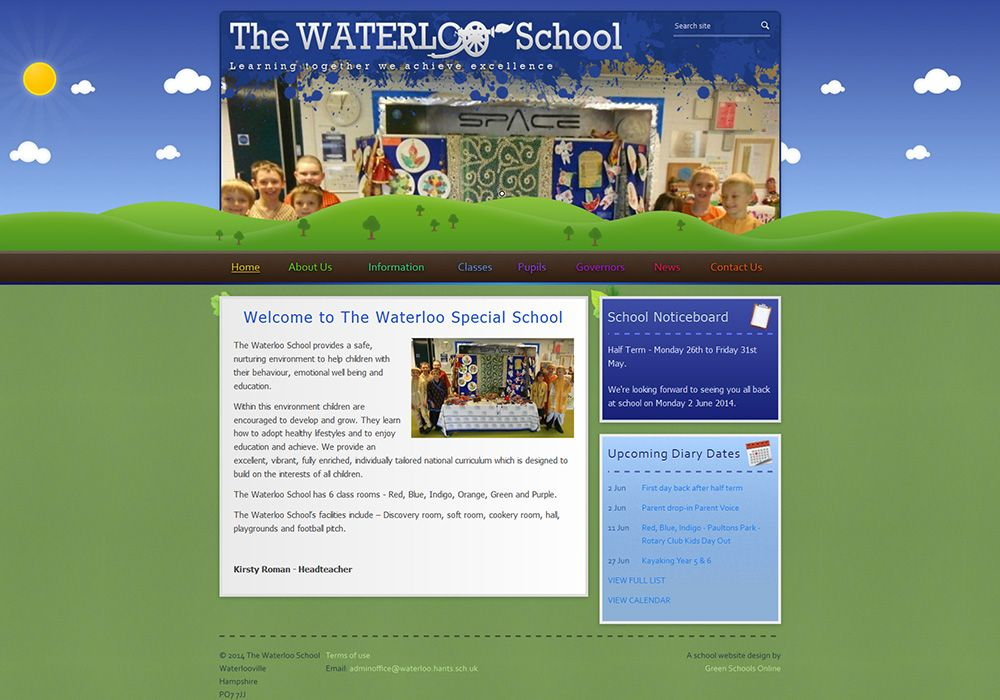 Enlarge The Waterloo School website design
