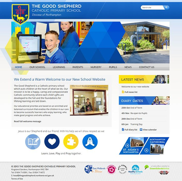 Enlarge The Good Shepherd Catholic Primary School website design