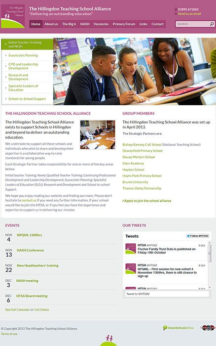 Enlarge The Hillingdon Teaching School Alliance website design