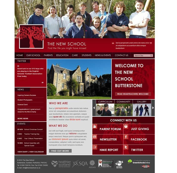 Enlarge The New School website design