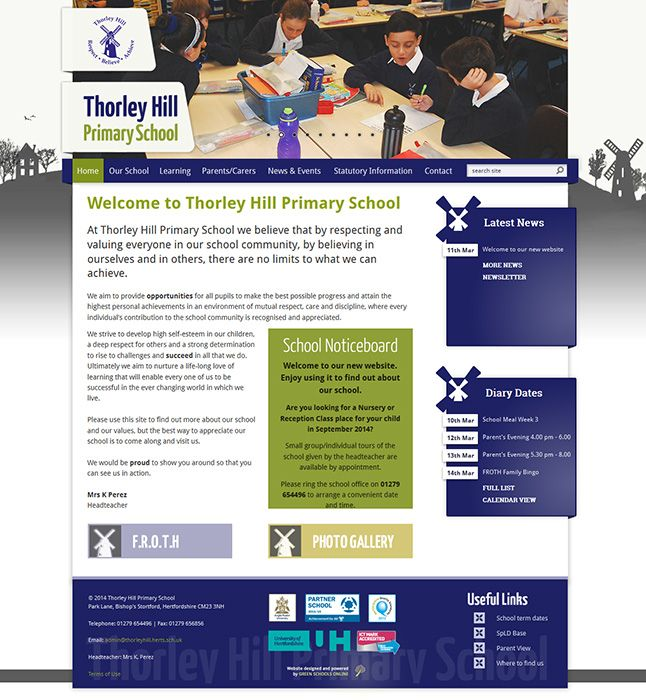 Enlarge Thorley Hill Primary School website design