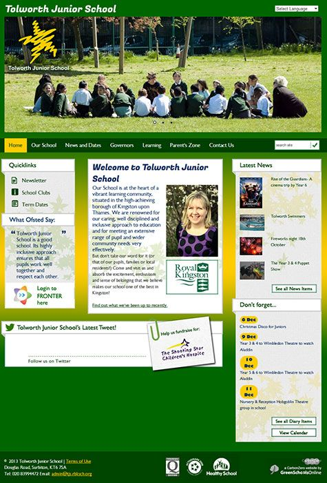 Enlarge Tolworth Junior School website design