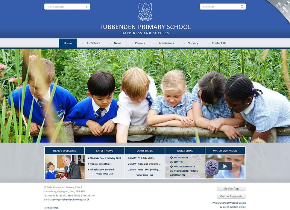Enlarge Tubbenden Primary School website design