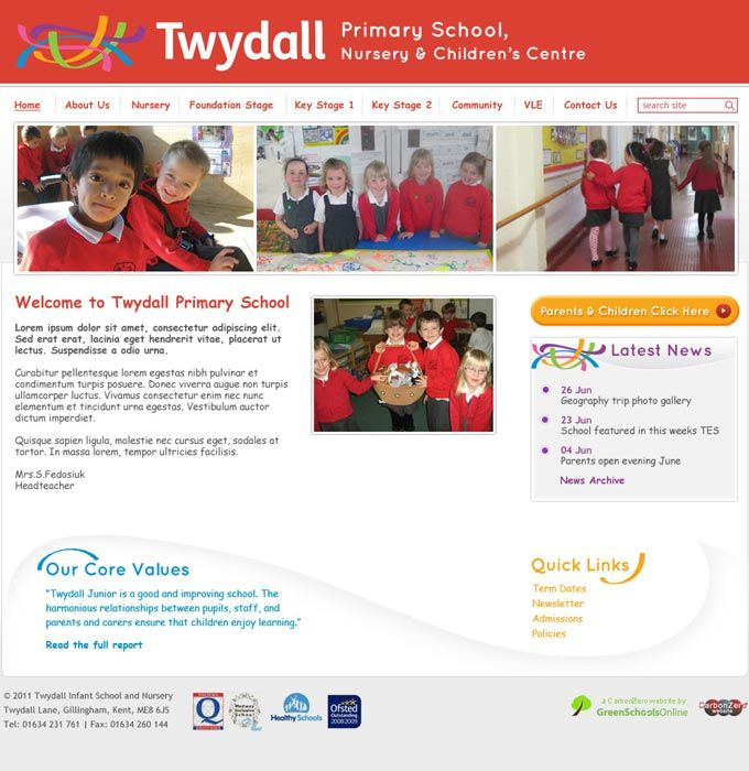 Enlarge Twydall Infants School website design