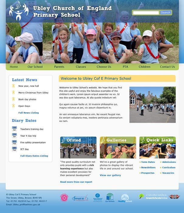 Enlarge Ubley Primary School website design