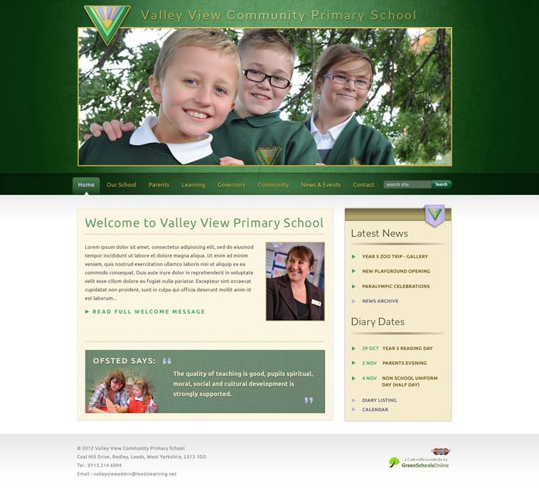Enlarge Valley View Community Primary website design