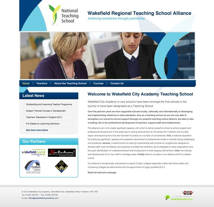 Enlarge Wakefield Regional Teaching School Alliance website design