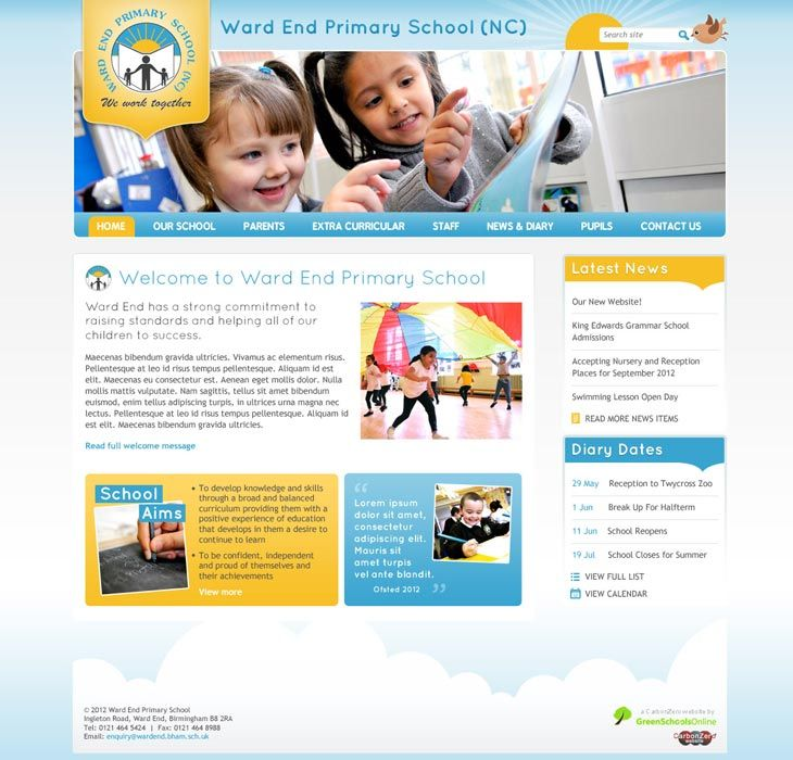 Enlarge Ward End Primary School website design