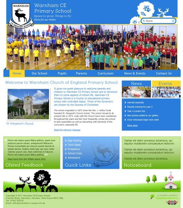 Enlarge Warnham CE Primary website design