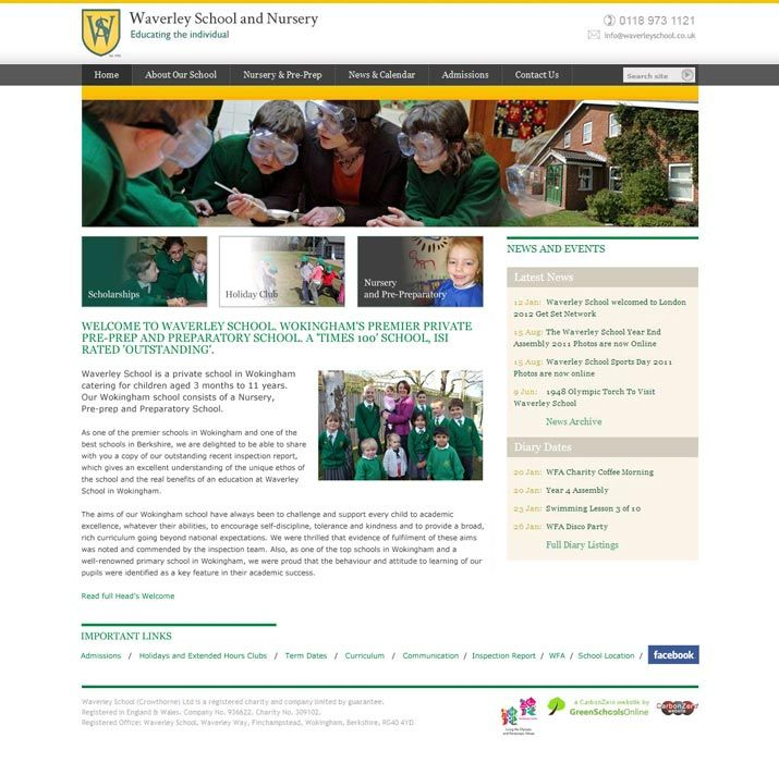 Enlarge Waverley School website design