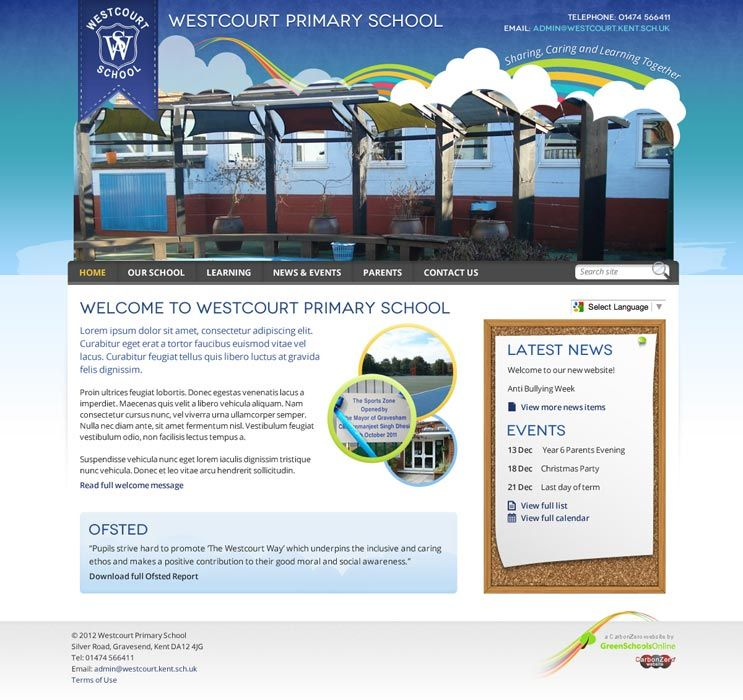 Enlarge Westcourt Primary School website design