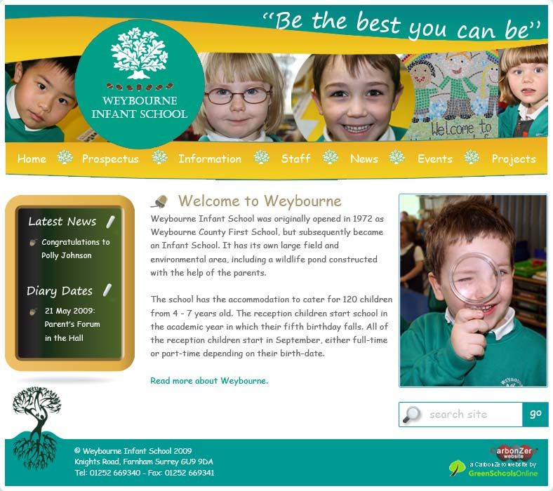Enlarge Weybourne Infant School website design