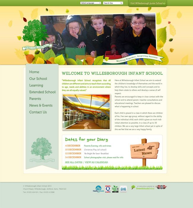 Enlarge Willesborough Infant School website design