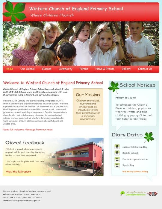 Enlarge Winford Primary School website design
