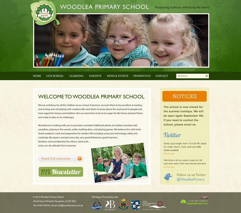 Enlarge Woodlea Primary School website design