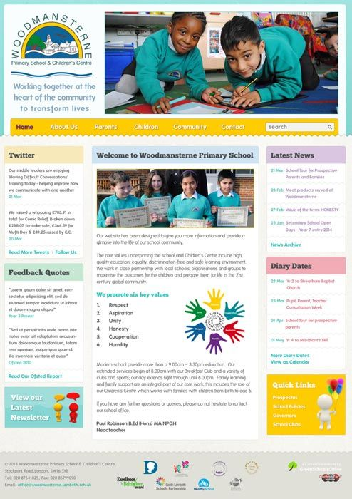 Enlarge Woodmansterne Lambeth website design