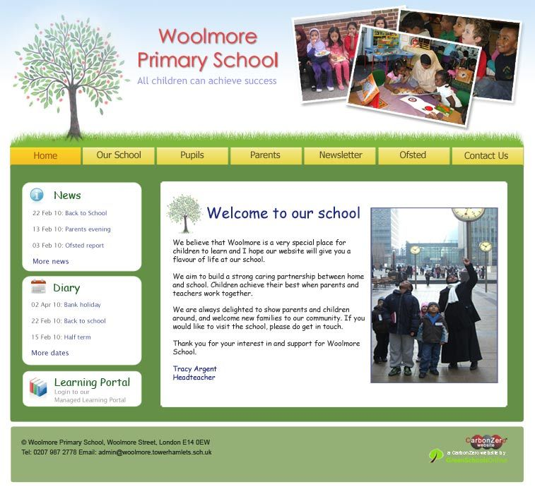 Enlarge Woolmore Primary School website design