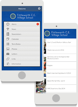 Screenshots of Fittleworth School's Mobile App