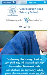 Charborough Road Primary School Website Design by Green Schools Online