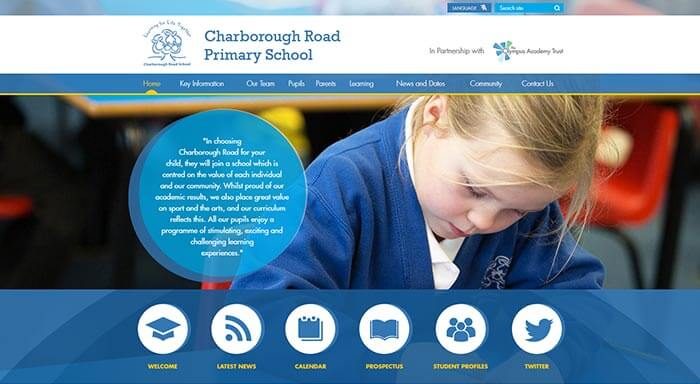 Charborough Road Primary School Website Design