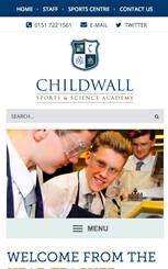 Childwall Sports and Science Academy Website Design