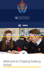 Chipping Sodbury Secondary School Website Design by Green Schools Online