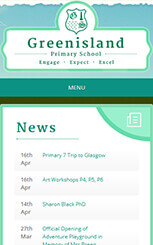 Greenisland mobile friendly school web design