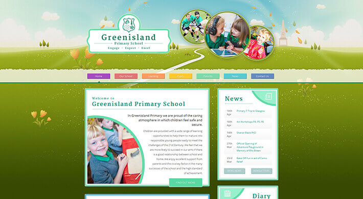 Greenisland school web design