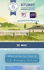 Sturry Primary mobile friendly school web design