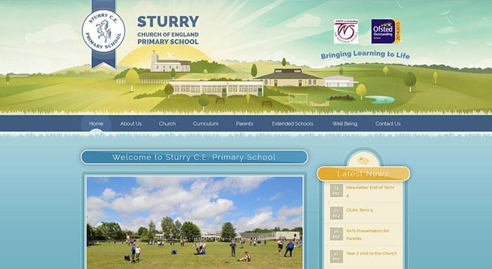 Sturry Primary school web design